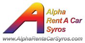 Alpha Rent a Car Syros Logo